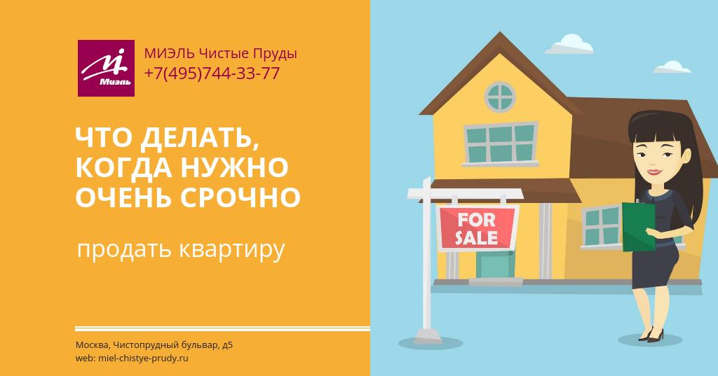 de741c56c8312 Что делать, когда нужно очень срочно продать квартиру