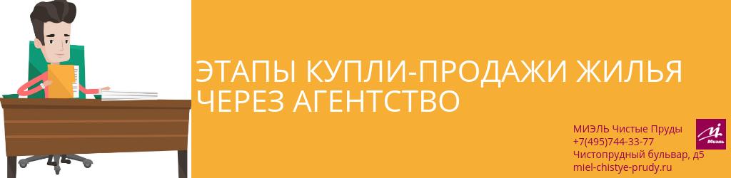 Этапы купли-продажи жилья через агентство. Агентство Миэль Чистые пруды, Москва, Чистопрудный бульвар, 5. Звоните 84957443377