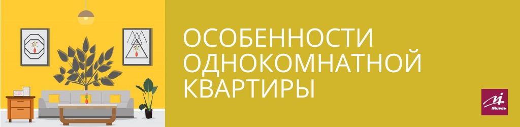Особенности однокомнатной квартиры в Москве